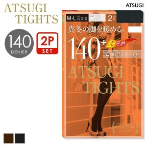 エントリーでポイント10倍/【メール便(30)】 (アツギ) ATSUGI (アツギタイツ) ATSUGI TIGHTS 140デニール 2足組 あったか タイツ レディース