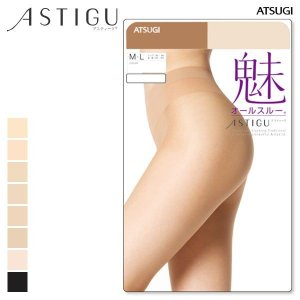 【メール便(10)】 【アツギ/ATSUGI】アスティーグ/ASTIGU 魅◆素肌感 オールスルー パンティストッキング