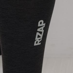 【メール便(15)】 (ライザップ)RIZAP MENS 10分丈 タイツ インナー 前とじ ソフトコンプレッション 杢柄 吸汗速乾 メンズ M L LL|shirohato|10