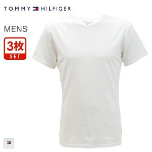33%OFF (トミー・ヒルフィガー)TOMMY HILFIGER PREMIUM ESSENTIALS PACK クルーネック 半袖 Tシャツ 3枚セット|shirohato