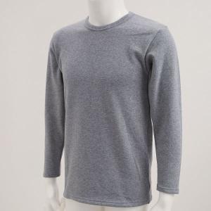 毛布のような着心地 裏ボア 長袖 クルーネック Tシャツ shirohato 03