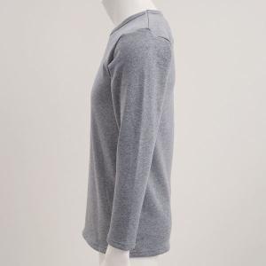 毛布のような着心地 裏ボア 長袖 クルーネック Tシャツ shirohato 04