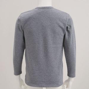 毛布のような着心地 裏ボア 長袖 クルーネック Tシャツ shirohato 05