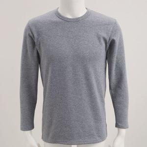 毛布のような着心地 裏ボア 長袖 クルーネック Tシャツ shirohato 06