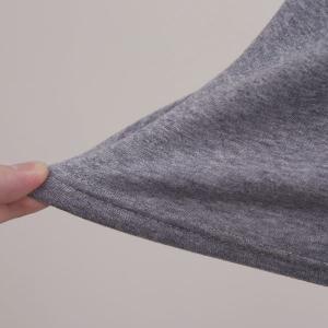 毛布のような着心地 裏ボア 長袖 クルーネック Tシャツ shirohato 09