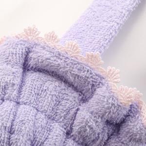 【送料無料】 (ブルーミングフローラ)bloomingFLORA タオル シェルレース バスラップ ワンピース 風呂上り バスローブ ルームウェア ママ 出産祝い 吸水|shirohato|10