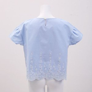 20%OFF送料無料 (キッドブルー)KID BLUE ダンガリーエンブ 半袖 トップス|shirohato|03