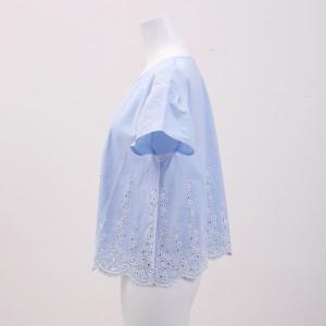 20%OFF送料無料 (キッドブルー)KID BLUE ダンガリーエンブ 半袖 トップス|shirohato|04