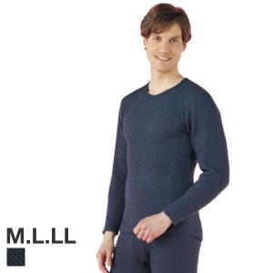 (ひだまり)チョモランマ あったかインナー メンズ 長袖丸首シャツ 日本製 [Qomolangma 8848 紳士用 スポーツインナー 大きいサイズ LLまで ]|shirohato