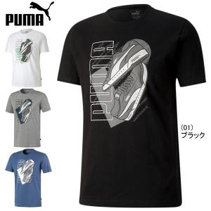 週末クーポン有!メール便送料無料 プーマ スニーカー グラフィック Tシャツ 半袖 PUMA 581...