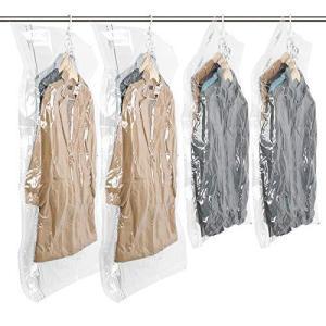 TAILI 圧縮袋 衣類圧縮袋 吊るせる圧縮袋 コート収納袋 掃除機対応 省スペース 防湿気 防埃 防虫 カビ ダニ 抗菌効果 繰り返し 利用可能|shirokumahouse