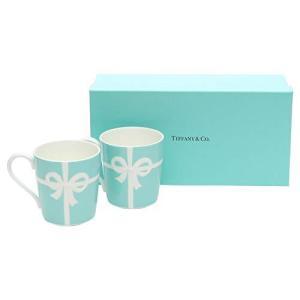 ティファニー TIFFANY&Co マグカップ ブルー リボン ボックス マグカップ ボーンチャイナ 225ml|shirokumahouse