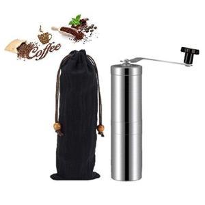 アウトドア コーヒー ドリッパー と コーヒーミル かっこいい ソロキャンプ キャンプ 登山 手挽きコーヒーミル ステンレス 持ち運びやすい コンパク|shirokumahouse