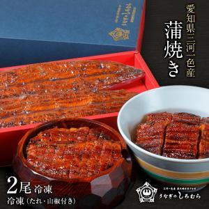うなぎ BK-2 超特大 2尾 (一尾 200g前後) 蒲焼 鰻    ウナギ 国産 三河一色産 炭火焼き shiromura