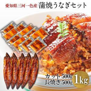 蒲焼き HCK-1000 うなぎ 500g + カット 500g(1パック 約50g) 鰻    ウナギ 国産 メガ盛り shiromura