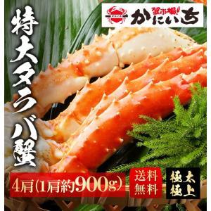 特大タラバ5L肩 × 4肩  2〜3人前 約900g 5L-4 たらば タラバガニ 蟹 ギフト 贈答|shiromura