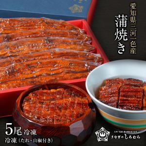 蒲焼き 5尾 K-5 (一尾 120g) 鰻    ウナギ うなぎ 国産 三河一色産 炭火焼きギフト|shiromura
