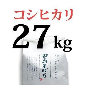 コシヒカリ 27kg 令和元年度産 長野県白馬村【しろうま農場】|shiroumanoujyo