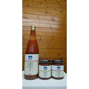【白馬そだち】トマトジュース・ケチャップ・ソース セット【しろうま農場】|shiroumanoujyo