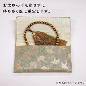 女性用片手念珠 独山玉 共仕立 正絹松風房 お念珠袋付き|shiroyamakagu|06