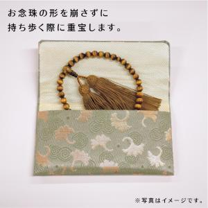女性用片手念珠 紫瑪瑙(パープルアゲート) 共仕立 正絹松風房 お念珠袋付き|shiroyamakagu|06