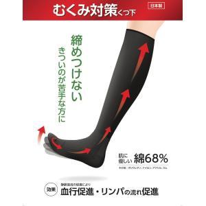 むくみ対策くつ下 一般医療機器 締めつけずにむくみ対策 白/黒/ベージュ 日本製 ネコポス便送料無料|shiroyayouhin