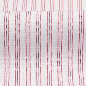 レディース ウィメンズシャツ 七分袖 形態安定 レギュラー衿 白×レッドストライプ|shirt|06
