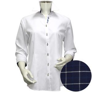 レディース ウィメンズシャツ 七分袖 形態安定 スキッパー衿 白×織柄(透け防止)|shirt