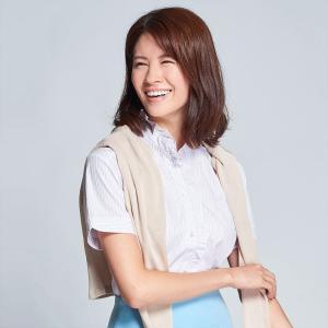 レディース ウィメンズ 半袖 形態安定 フリル付 デザインシャツ スタンド衿 白×ピンクストライプ|shirt