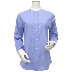 サックス地に細い2本の白ストライプ。 クレリック仕様を施した衿とカフスが シャープで知的な印象を醸し...