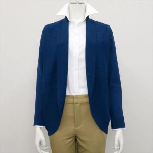 レディース ウィメンズニット 横リブトッパー カーディガン ブルー系|shirt