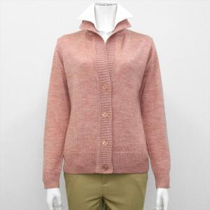 レディース ウィメンズニット スタンドヘンリー カーディガン ピンク系|shirt