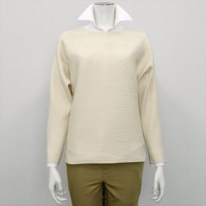 レディース ウィメンズニット ドルマンスリーブ プルオーバー オフホワイト系 shirt