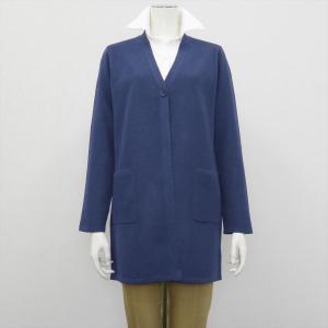 レディース ウィメンズニット Vネック ロング カーディガン ブルー系|shirt