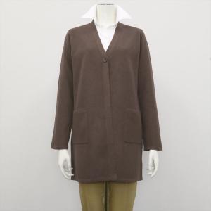 レディース ウィメンズニット Vネック ロング カーディガン ブラウン系|shirt