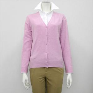 レディース ウィメンズニット Vネック カーディガン ピンク系|shirt