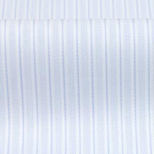 スリム 長袖 ワイシャツ 形態安定 ドゥエボットーニ ボタンダウン サックス×白ストライプ|shirt|06
