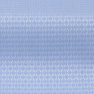標準体 長袖 ワイシャツ 形態安定 ワイド 綿100% サックス×織柄|shirt|06