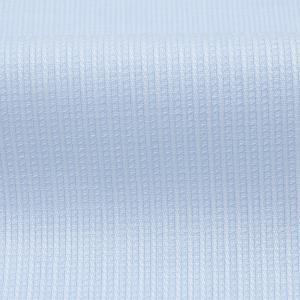 スリム 長袖 ワイシャツ 形態安定 ワイド サックス×ストライプ織柄|shirt|06