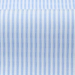 スリム 長袖 ワイシャツ 形態安定 ボタンダウン 綿100% 白×サックスストライプ|shirt|06