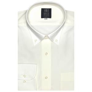 標準体 長袖 ワイシャツ 形態安定 クレリック ドゥエボットーニ ボタンダウン クリームイエロー×ダイヤチェック織柄|shirt