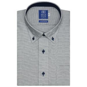 新体型 半袖 ワイシャツ 形態安定 ドゥエボットーニ ボタン...