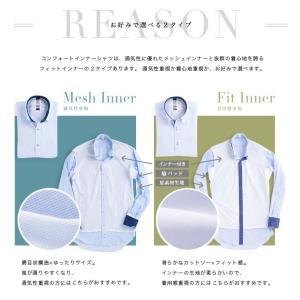 標準体 長袖 フィットインナー ワイシャツ 形態安定 パイピング風 ボタンダウン ピンク×斜めストライプ織柄|shirt|07
