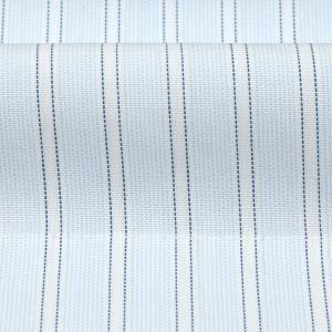 新体型 半袖 ワイシャツ 形態安定 ボタンダウン 綿100% サックス×白、ブルーストライプ|shirt|06