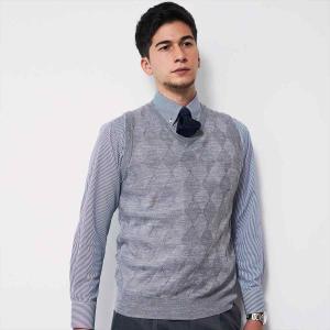 ワイシャツ 長袖 形態安定 ドゥエボットーニ ボタンダウン 白×ブルーストライプ 標準体 shirt