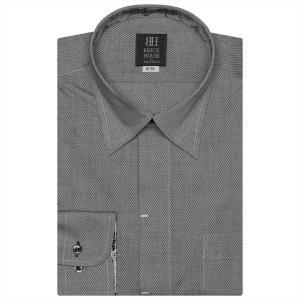Disney ディズニー / ワイシャツ 長袖 形態安定 スナップダウン グレー×ダイヤチェック織柄 標準体|shirt