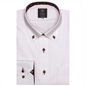 Disney ディズニー / ワイシャツ 長袖 形態安定 ドゥエボットーニ ボタンダウン ピンク×小紋、ミッキーシェイプ織柄 標準体|shirt