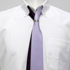 ツイン ナロータイ 大剣幅6cm パープル系 リング付・ラメ入り|shirt