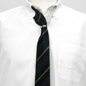 ツイン ナロータイ 大剣幅6cm  シルバー・黒系 リング付・ラメ入り|shirt