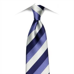 ネクタイ / ビジネス / フォーマル / 日本製ネクタイ 絹100% ブルー系 ストライプ柄|shirt